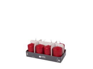 "Set lumânări - pilon ""Dark Red"" 8 bucați 120/60 mm"