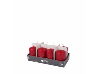 """Set lumânări - pilon """"Dark Red"""" 8 bucați 120/60 mm"""
