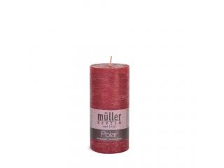 "Lumânare - pilon seria "" Polar Dark Red "" 125/58 mm, 1 buc"