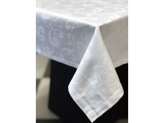"""Față de masă """"Alb clasic satinat"""", 145x213 cm"""