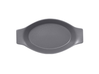 """Neo fusion""Platou oval cu doua minere t/rezistent 20cm.Gray 1buc."