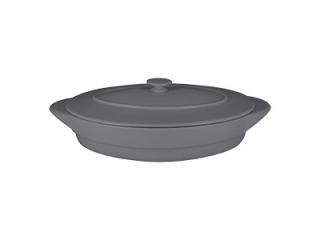 """""""Chef's Fusion"""" Tavă ovală cu căpac termorezistenta, Grey, 44 cm, 1 buc"""