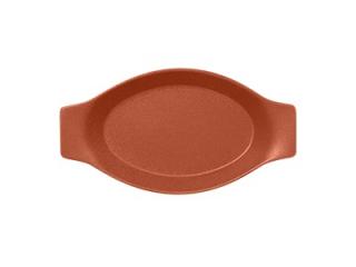 """Neo fusion""Platou oval cu doua minere t/rezistent 25cm.Brown 1buc."