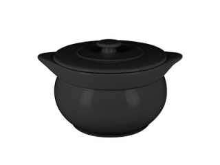 """""""Chef's Fusion"""" Oala cu capac pentru supa, 15 cm, Black, 1 buc"""