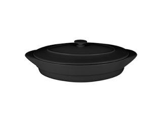"""""""Chef's Fusion"""" Tavă ovală cu capac termorezistentă, 44 cm, black, 1 buc"""