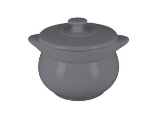"""""""Chef's Fusion"""" Oala rotunda cu capac, 10 cm, Grey, 1 buc"""