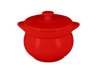 """Chef's Fusion"" Oala rotunda cu capac, 10 cm, Red, 1 buc"