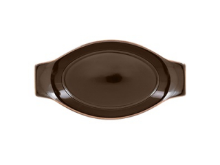 """Genesis"" Brown, Platou termorezistent, 20 cm, 1 buc"