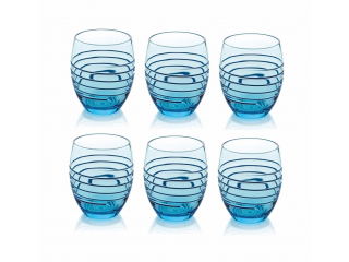 """Rings"" Set 6 pahare , 330 ml, turquoise, 1 set"