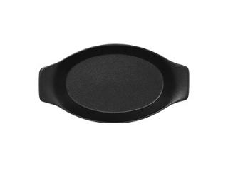 """""""Chefs fusion""""Platou oval cu doua minere t/rezistent 25cm.Black 1buc."""