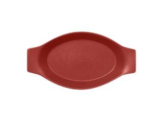 """""""Chefs fusion""""Platou oval cu doua minere t/rezistent 25cm.Dark red 1buc."""