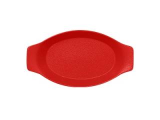 """""""Chefs fusion""""Platou oval cu doua minere t/rezistent 30cm. Red 1buc."""