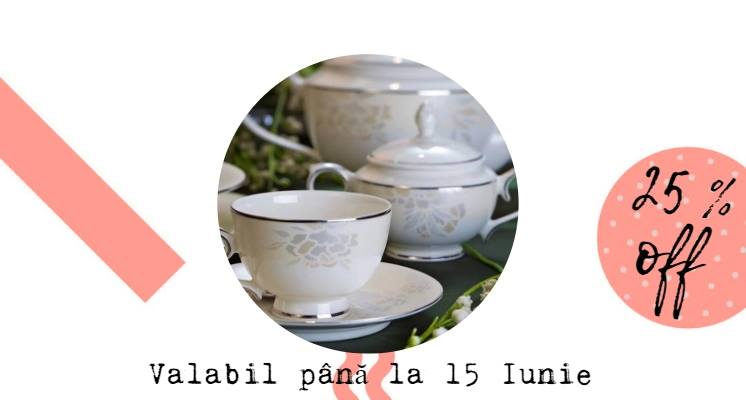 Reducrile continuă 25% OFF la toate seturile de ceai și cafea!