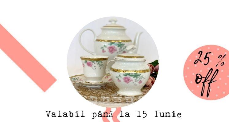 Beneficiază de 25% reducere La toate seturile de ceai și cafea!