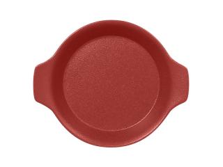 """""""Chefs fusion""""Platou rotund cu doua minere t/rezistent 16cm. Dark red 1buc."""