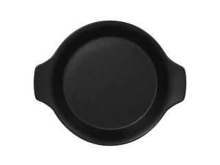 """Chefs fusion""Platou rotund cu doua minere t/rezistent 16cm.Black 1buc."