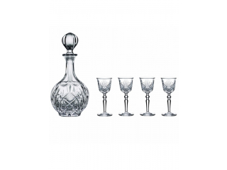 """Palais"" Set carafa cu 4 pahare p/u liqueur, (0,75 l + 54 ml), 5 pcs"