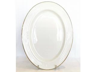"""Simplicity Thick Edge Gold"" Platou oval 35 cm, 1 buc."