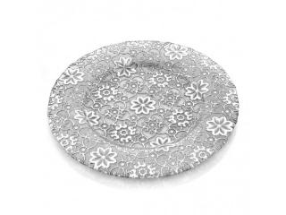 """""""Arabesque"""" Platou p/u torta cu picior, Silver Leaf, 32 cm, 1 buc"""