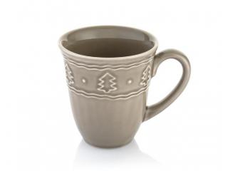 """""""Holidays"""" Cana din ceramica cu ornament, turquise, h-11 cm, 1 buc"""