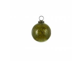 "Glob ""Ornament"", d7,5cm, Green, 1 pcs"