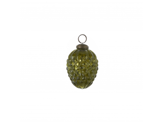 "Ornament ""Con de brad"", d6,5cm, Green, 1 pcs"