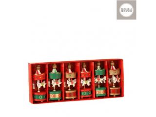 """Ornament """"Carrousel"""" red, l21.5*h3.5 cm, 6pcs"""