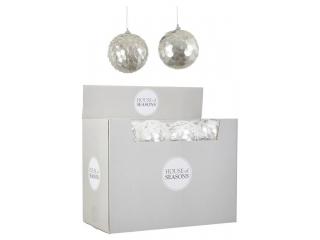 """Ornament ''Glob"""" ,Silver, d10 cm,1 pcs."""