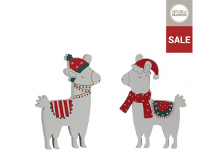 "Ornament ""Lama"" white, l21*h2cm, 1pcs"