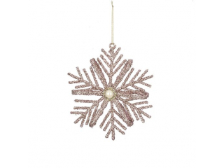 """Ornament Snowflake"", Gold, h8 cm, 1pcs"