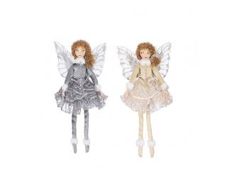"""""""Ornament-Elf"""", Grey-Gold,  h5cm, 1 pcs"""
