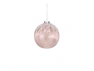 "Glob ""Ornament Ball"", Pink, d10cm, 1 pcs"
