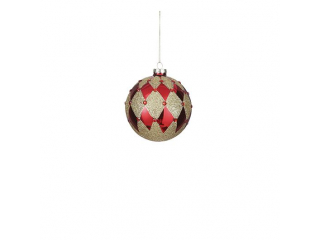 "Glob ""Ornament Ball"", d10cm, Red, 1 pcs"
