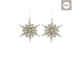 "Ornament ""Snowflake"" d16cm,  Gold, 1 buc."