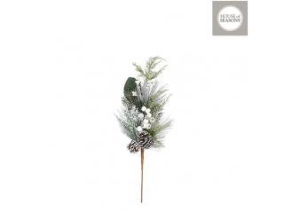 """Floare artificiala """"Branch""""  h10cm, White,  1 buc"""