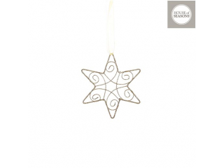 Ornament ''Star'' Gold, d15cm, 1 buc