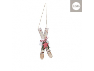 Ornament ''Ski'' Red, h13cm, 1 buc