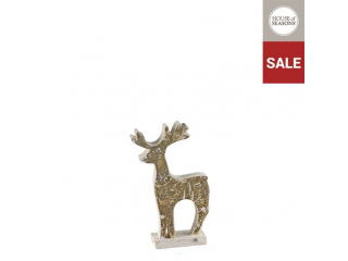 Ornament ''Deer'',Gold ,h19cm,1 buc