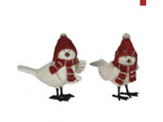 "Ornament ''Bird"" , Red, h13 cm,1 pcs."
