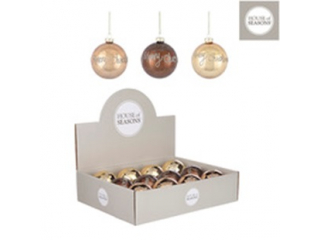 Ornament ''Bauble'', Gold-Brown ,d8cm,1 buc