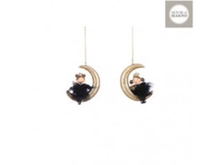 Ornament ''Moon'' Gold, h9cm, 1pcs