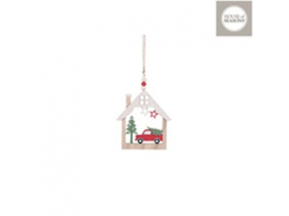Ornament ''House'' Red, lxw13cm, 1 buct