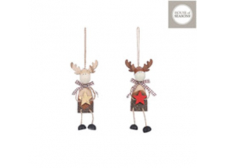 Ornament ''Deer'' Red, h11cm, 1 buc