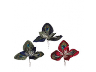 Ornament ''Clip-Magnolia'' Red-Green-Blue, D16cm, 1 buc