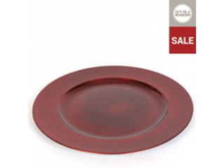 "Ornament ""Decoration"", plate red-d30cm, 1 pcs"