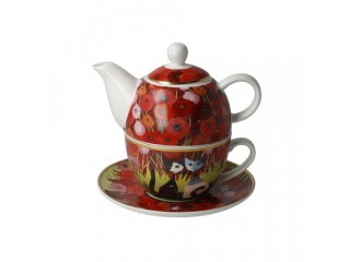 "Set ceai ""Innamorati tra i papaver"" 3 piese, 0,35 l, 15,5 cm , 1 set"