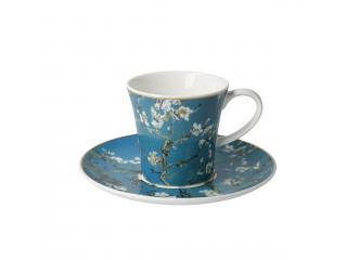 """Cana cu farfurioara """"Almond tree blue""""  0,25 l, 8.5 cm 1 buc"""