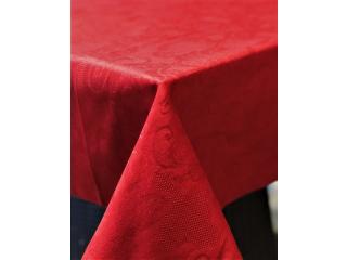 Fata de masa rosu classic , 144*180 cm,1 buc