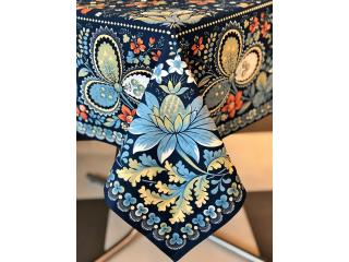 "Fata de masa ""Oriental-Albastru"", 178*274 cm, 1 buc"