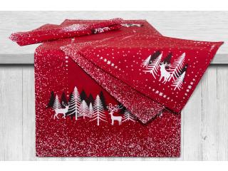 "Set traversa de masa ""Christmas"" 40*95 cm cu 4 servetele 33*33 cm, 5 piese"